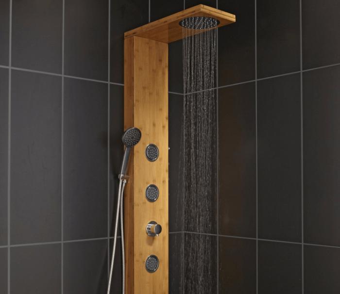 colonne-de-douche-en-bois